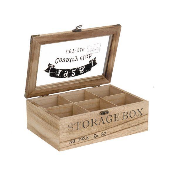 cutie ceai 6 compartimente